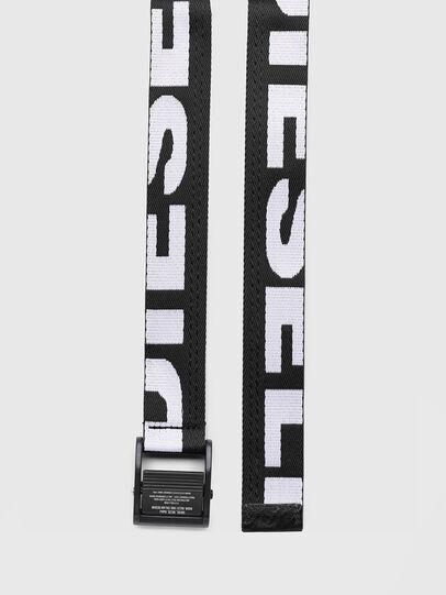 Diesel - B-MASER, Black/White - Belts - Image 3