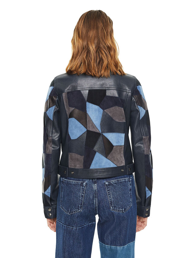 Diesel - LATCHY, Blue - Leather jackets - Image 2