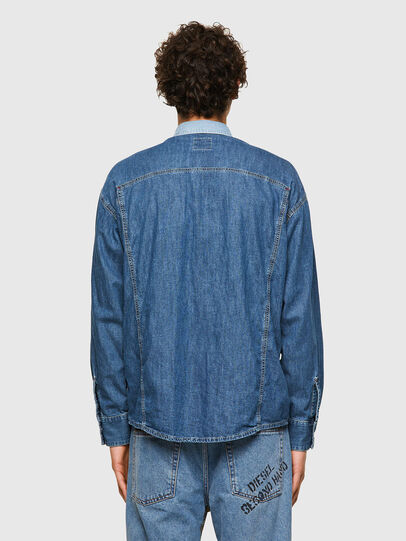 Diesel - DxD-SHIRT, Medium blue - Denim Shirts - Image 3