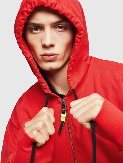Diesel - S-ALBY-ZIP-A1, Fire Red - Sweaters - Image 3
