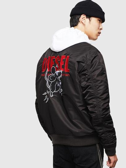 Diesel - CL-J-ROSS-REV-BIGM, Black - Winter Jackets - Image 2