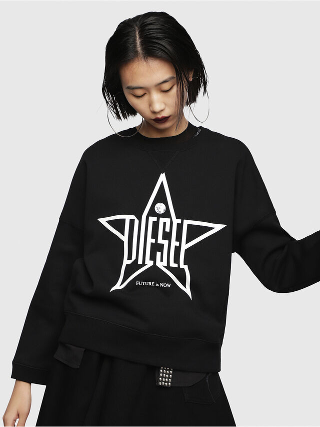 Diesel - F-GERTRUDE-NEW-A, Black - Sweaters - Image 1