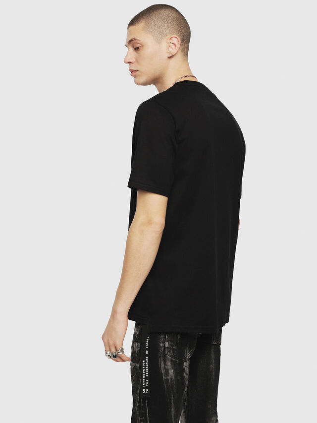 Diesel - T-JUST-XMAS, Black - T-Shirts - Image 2
