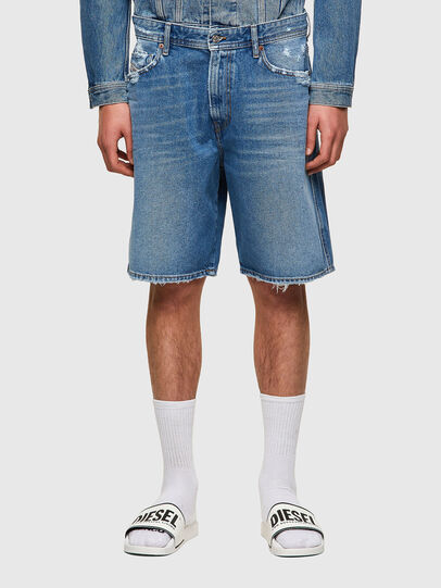 Diesel - D-WILLOH-X, Light Blue - Shorts - Image 1