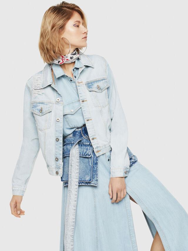 Diesel - DE-VELVET, Blue Jeans - Denim Jackets - Image 1