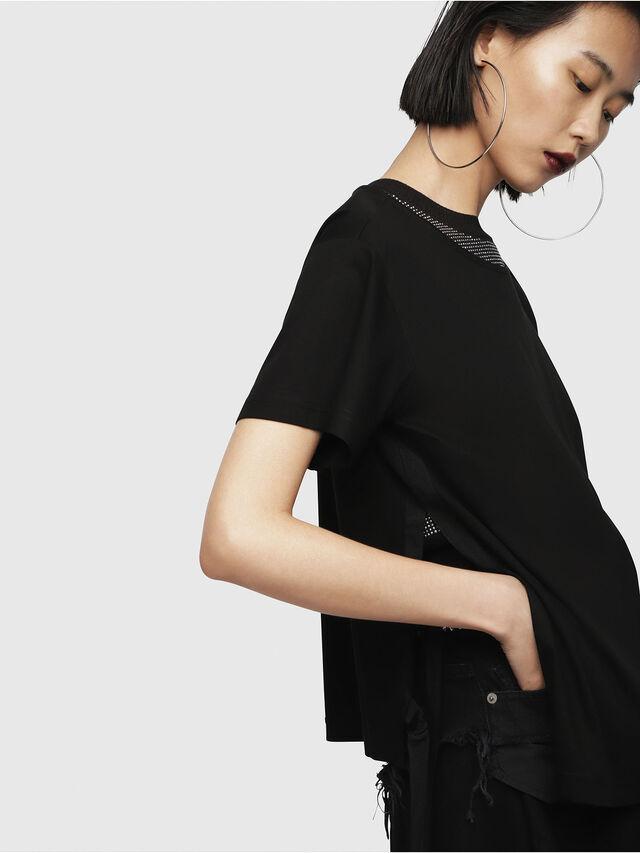 Diesel - T-FLEURIS-A, Black - T-Shirts - Image 3