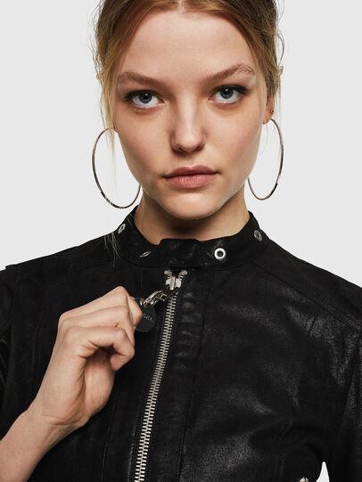 Diesel - L-LYSSA-G, Black - Leather jackets - Image 4