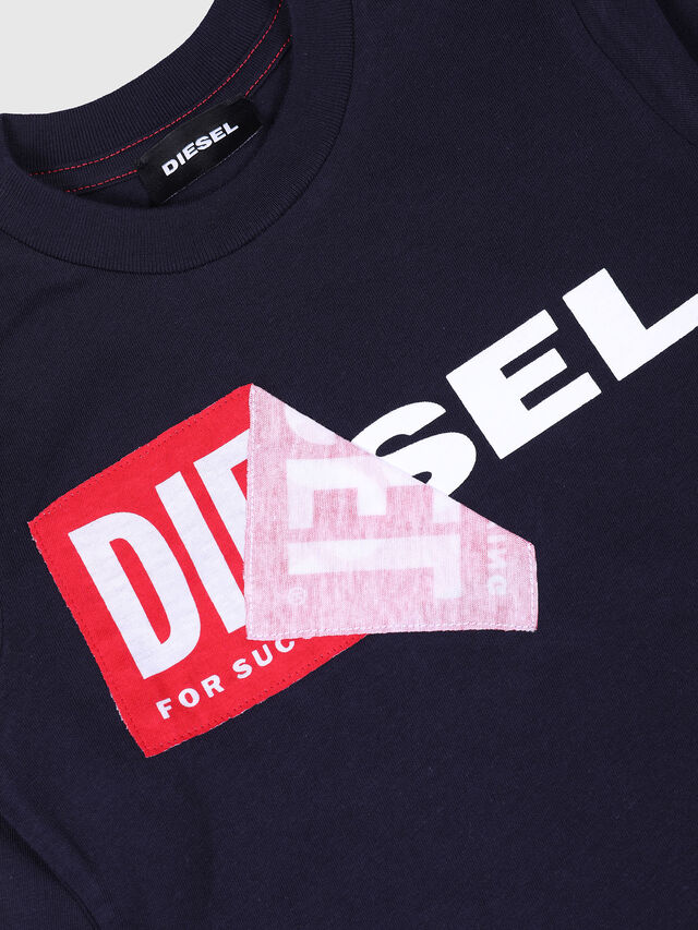 Diesel - TOQUEB-R, Navy Blue - T-shirts and Tops - Image 3