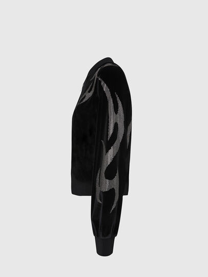 Diesel - F-CHINIL, Black - Sweaters - Image 3