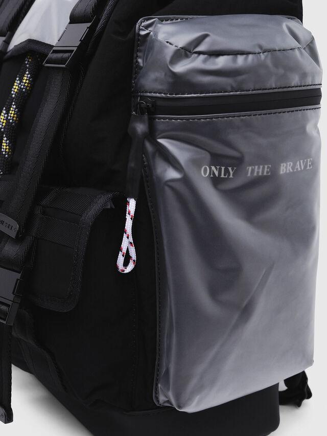 Diesel - M-CAGE BACK, Black/Silver - Backpacks - Image 4