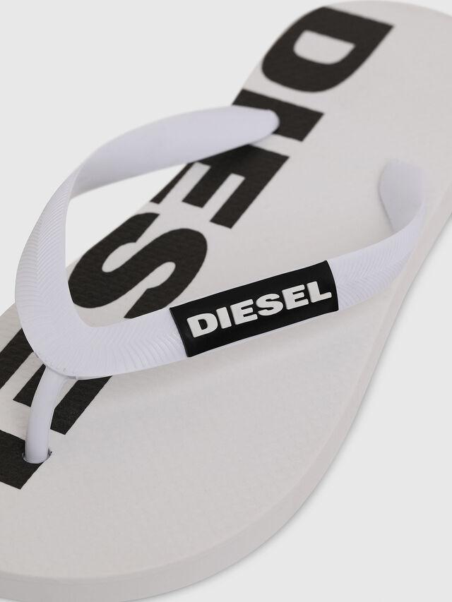 Diesel - SA-BRIIAN W, White/Black - Slippers - Image 3