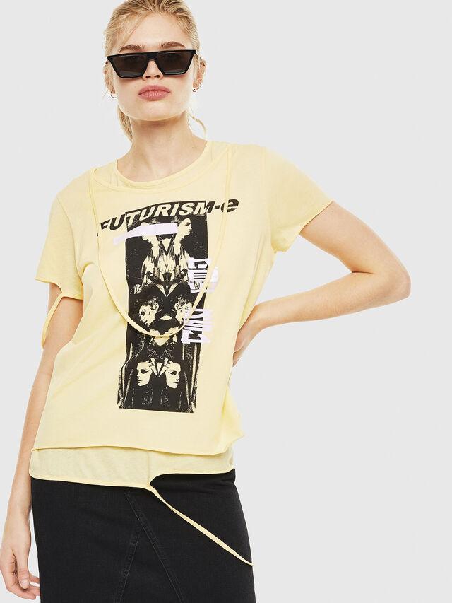 Diesel - T-EMIKO-C, Light Yellow - T-Shirts - Image 1