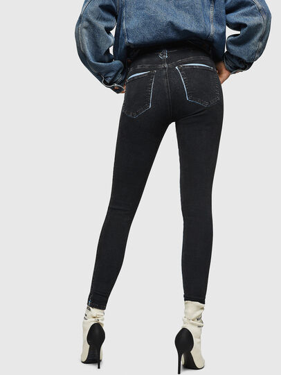 Diesel - Slandy High 0094B, Dark Blue - Jeans - Image 2