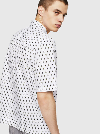 Diesel - S-FRY-SKULL, White - Shirts - Image 4
