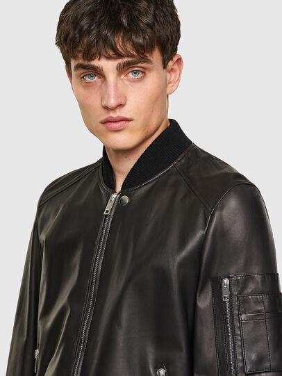 Diesel - L-ABBOTT, Black - Leather jackets - Image 4