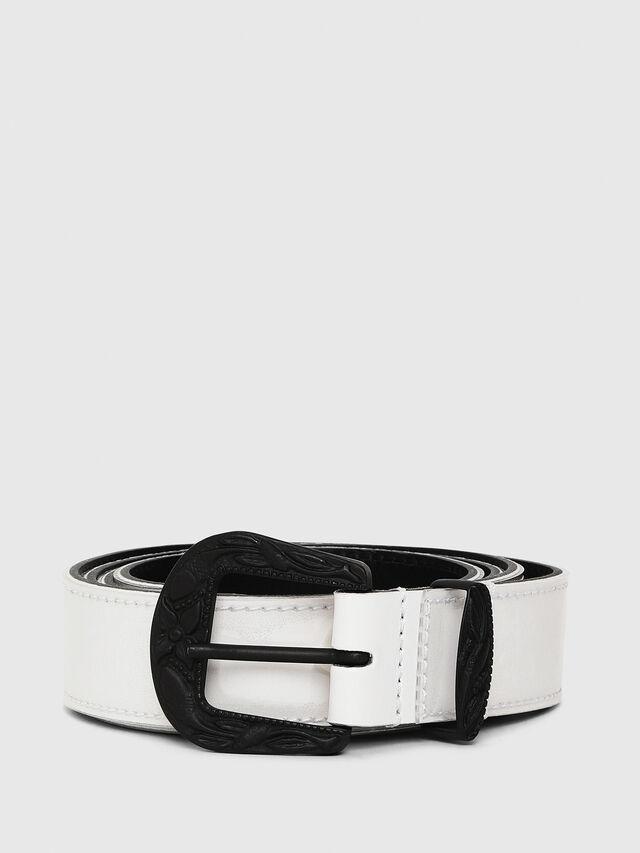 Diesel - B-STIC-F, White/Black - Belts - Image 1