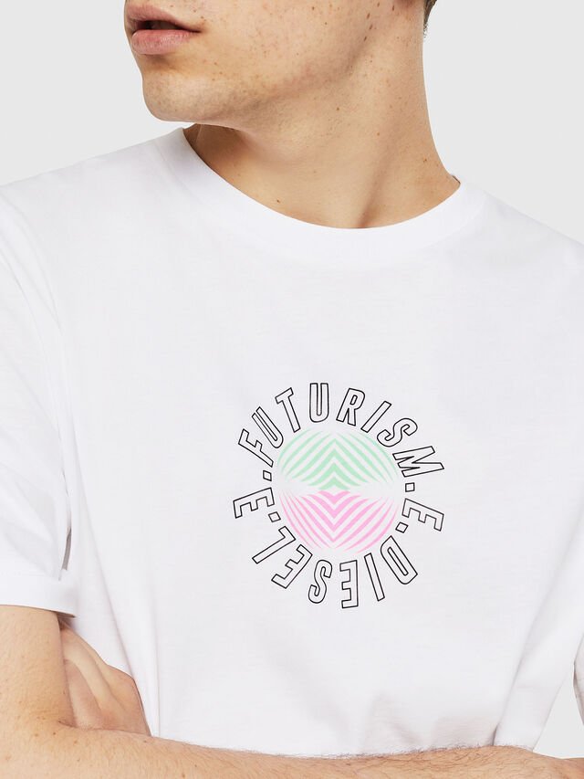 Diesel - T-JUST-Y19, White - T-Shirts - Image 3