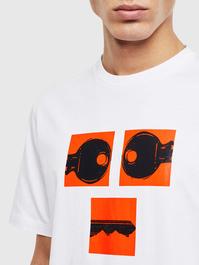 Diesel - T-JUST-T23, White - T-Shirts - Image 5