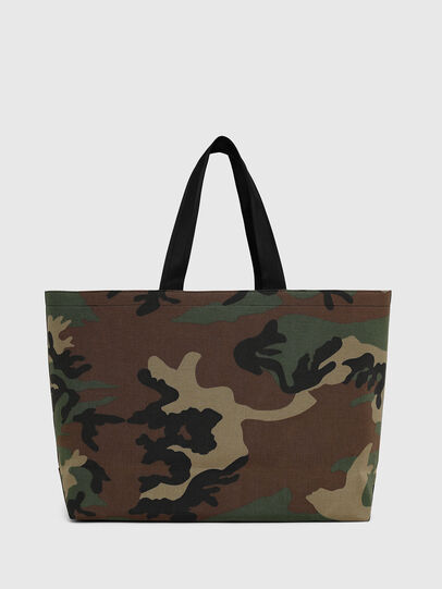 Diesel - D-THISBAG SHOPPER L, Green Camouflage - Shopping and Shoulder Bags - Image 2