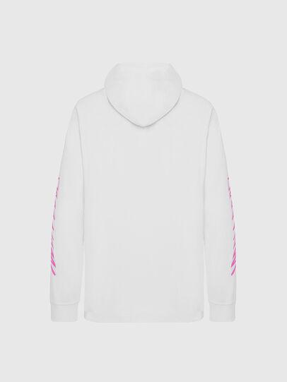 Diesel - T-JUST-LS-HOOD-X30, White - T-Shirts - Image 2