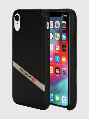 DIESEL LEATHER CO-MOLD CASE FOR IPHONE XR, Black - Cases