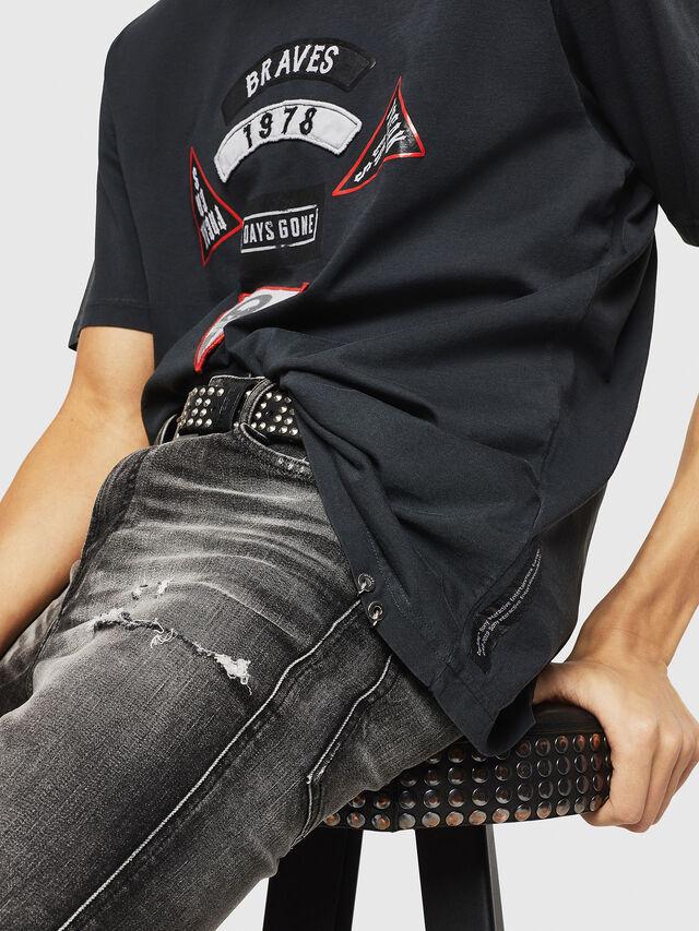 Diesel - PS-T-JUST-RIBS, Black - T-Shirts - Image 3