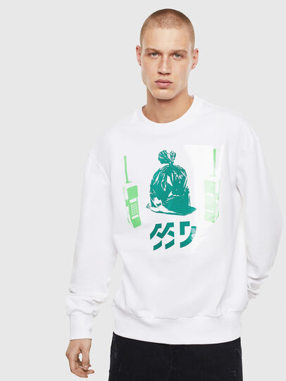 Diesel - S-BIAY-S1, White - Sweaters - Image 1