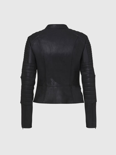 Diesel - L-IGE-NEW, Black - Leather jackets - Image 2