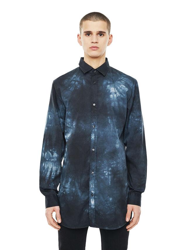 Diesel - SAMOUT, Black/Blue - Shirts - Image 1
