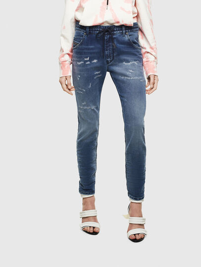 Diesel - Krailey JoggJeans 069LW, Dark Blue - Jeans - Image 1