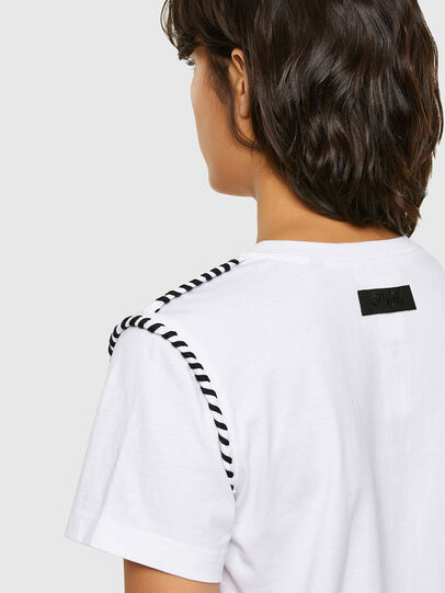 Diesel - T-TWISTY, White - T-Shirts - Image 4