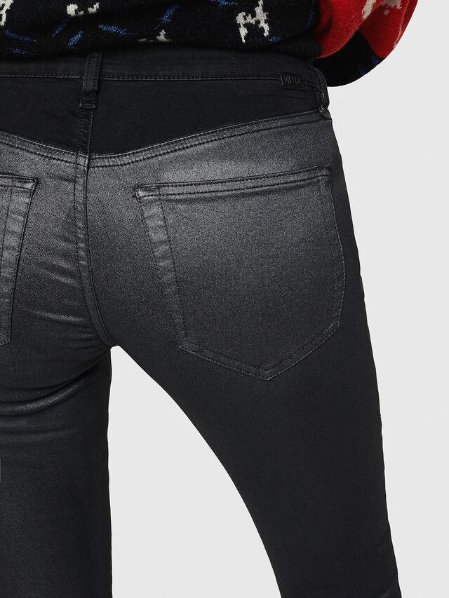 Diesel - Slandy Zip 069GF, Black/Dark grey - Jeans - Image 5