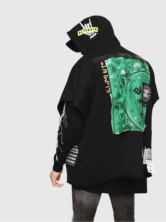 Diesel - S-MAKI-ZIP, Black/Green - Sweaters - Image 2
