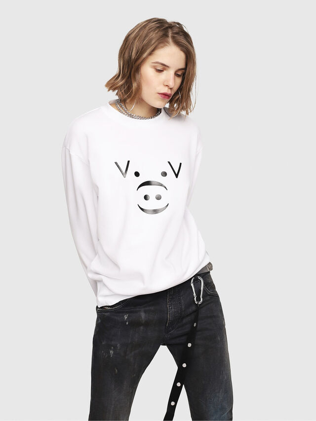 Diesel - CL-SNOR, White - Sweaters - Image 2