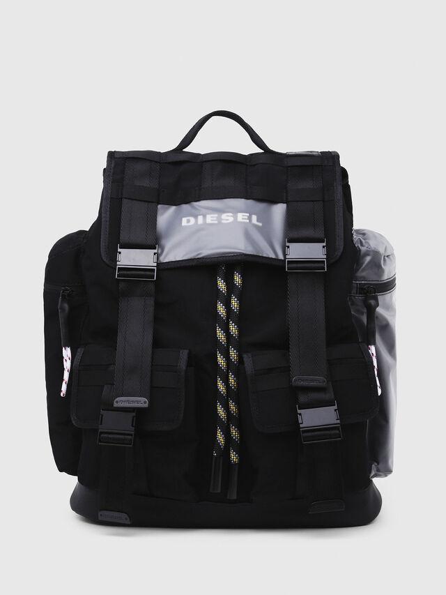 Diesel - M-CAGE BACK, Black/Silver - Backpacks - Image 1