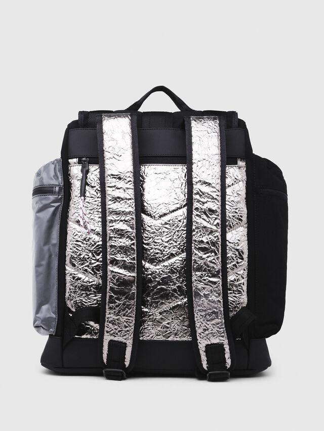 Diesel - M-CAGE BACK, Black/Silver - Backpacks - Image 2