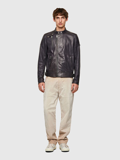 Diesel - L-CODY-NEW, Black - Leather jackets - Image 5