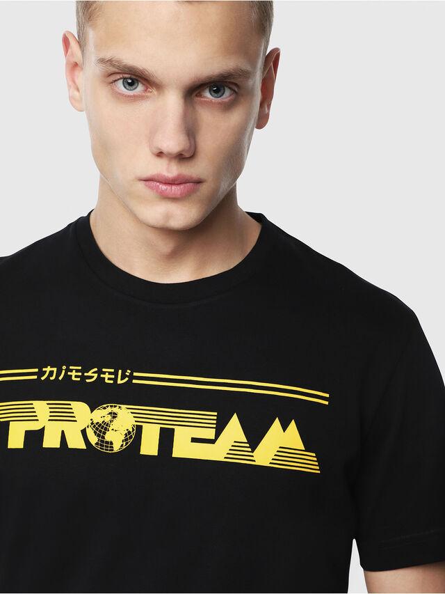 Diesel - T-DIEGO-YB, Black/Yellow - T-Shirts - Image 3