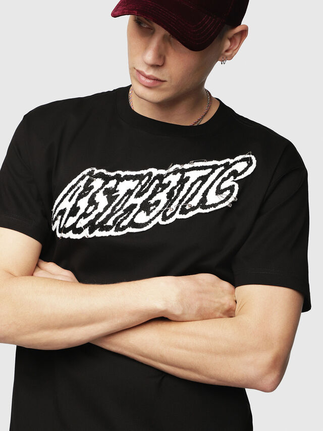 Diesel - T-WALLACE-YC, Black - T-Shirts - Image 3