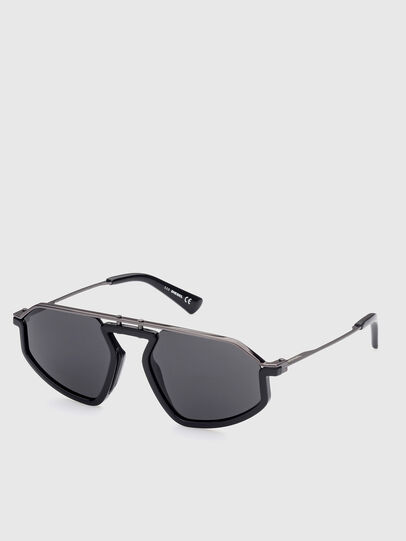Diesel - DL0345, Black - Sunglasses - Image 2