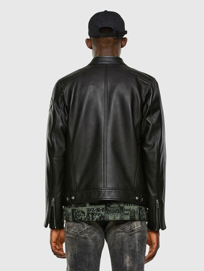 Diesel - L-BOY, Black - Leather jackets - Image 8