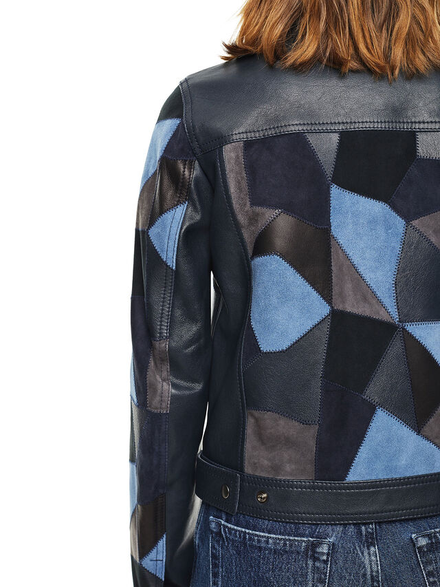 Diesel - LATCHY, Blue - Leather jackets - Image 4