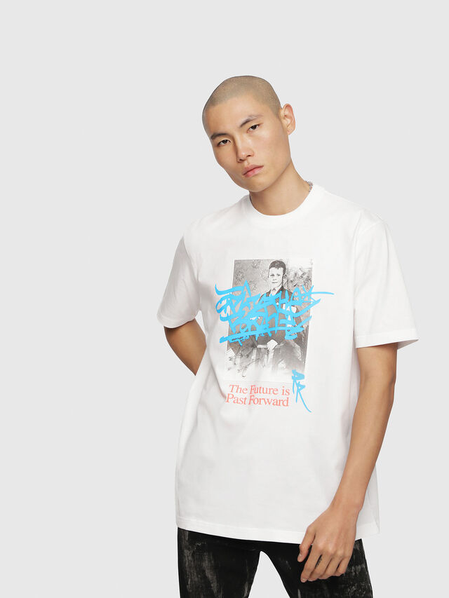 Diesel - T-JUST-YC, White - T-Shirts - Image 1