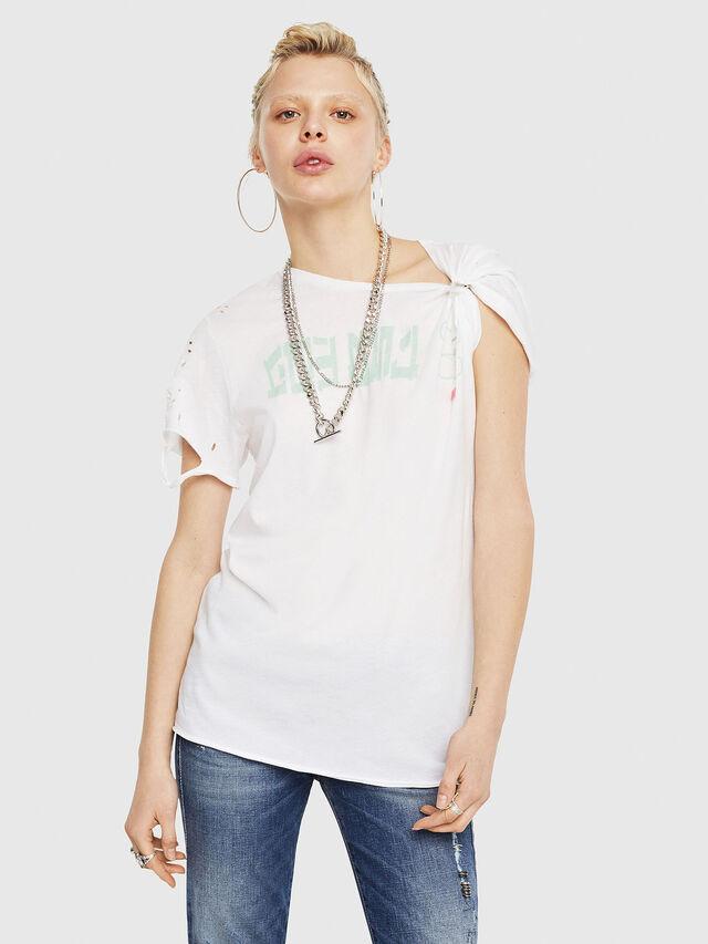 Diesel - T-FLAVIA-G, White - T-Shirts - Image 1