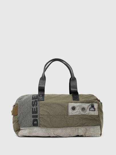 Diesel - D-THISBAG TRAVEL BAG, Olive Green - Travel Bags - Image 1