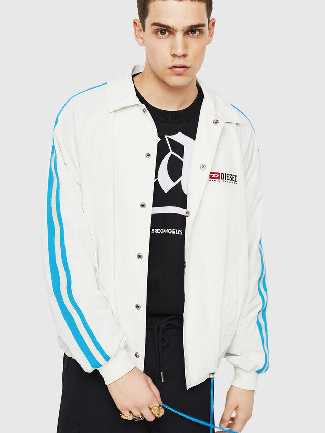 Diesel - J-AKITO, White/Blue - Jackets - Image 1