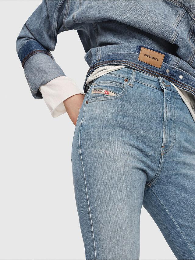 Diesel - Babhila High 081AF, Light Blue - Jeans - Image 3