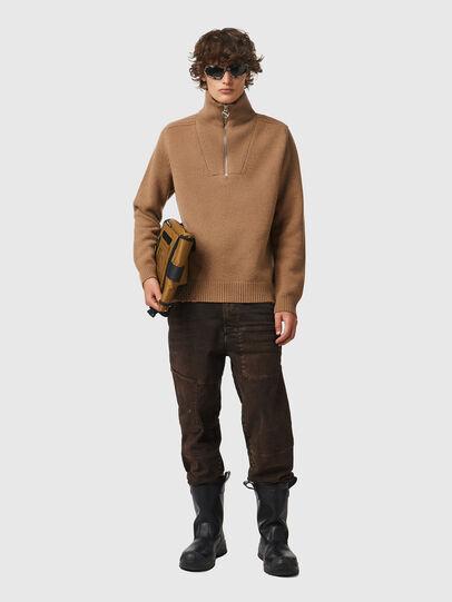 Diesel - K-FREMONT, Light Brown - Knitwear - Image 4