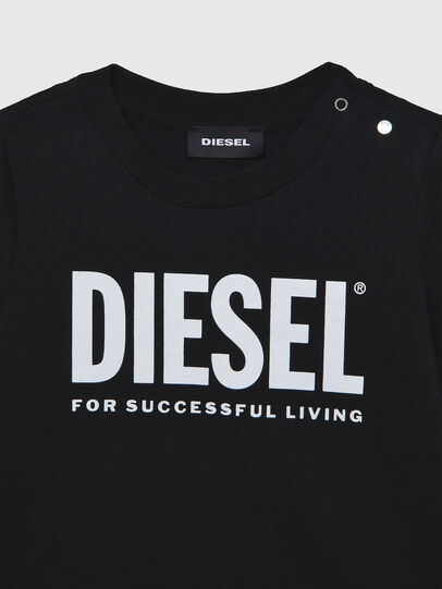 Diesel - TJUSTLOGOB ML, Black - T-shirts and Tops - Image 3