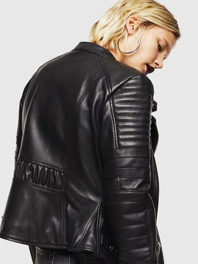 Diesel - L-IGE, Black - Leather jackets - Image 3